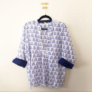 Roberta Roller Rabbit Cotton Blue Print Tunic Top